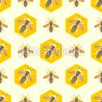 Honigbienenwaben Nahtloses Muster