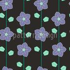 Цветы забор Бесшовный дизайн векторных узоров