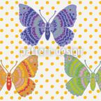 Schmetterlingsfantasie Nahtloses Vektormuster