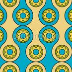 Цветочные круги Бесшовный дизайн векторных узоров