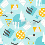 Memphis Objects Seamless Vector Pattern Design