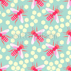 Girly Bees Design Pattern