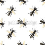 Laufende Bienen Nahtloses Vektormuster