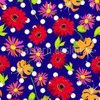 Florales Königreich Nahtloses Vektormuster
