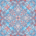Estruturas de Linha Simétricas Design de padrão vetorial sem costura