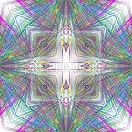 Psychedelisches Kreuz Nahtloses Muster