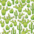 Mexican Cacti Seamless Vector Pattern Design