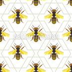 Bienen Und Abstrakte Waben Rapportmuster
