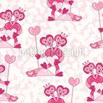 Pequeno coração de Dobble- Design de padrão vetorial sem costura