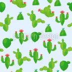 夏のサボテン シームレスなベクトルパターン設計