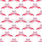 Flamingo enamorado Estampado Vectorial Sin Costura