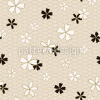 Japanese Sakura Vector Pattern