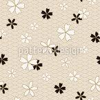 Japanische Sakura Vektor Muster