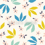 Leaves In Scandi Style Repeat Pattern