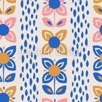 Flowers In Scandinavian Style Design Pattern