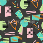 Back To Memphis Seamless Vector Pattern Design
