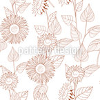Sunflowers Line Drawing Vector Design