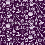 Creepy Halloween Seamless Vector Pattern Design