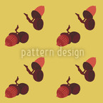 Acorns Seamless Vector Pattern Design