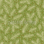 Kiefern Zweige Nahtloses Muster