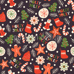 Jolly Holly Seamless Vector Pattern Design