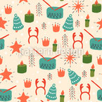 Candles Burning Vector Ornament