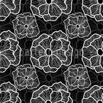 Linien Blumen Nahtloses Vektormuster