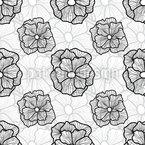 Leichte Linien Blume Nahtloses Vektormuster