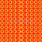 Retro Circle Matrix Seamless Vector Pattern Design