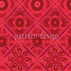 Bukhara Dream Pink Vector Pattern