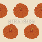 Decorative Gourd Orange Repeating Pattern