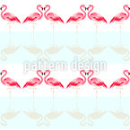 Amor Flamingo Estampado Vectorial Sin Costura
