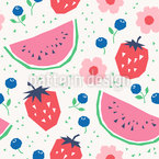 Strawberries And Watermelons Seamless Pattern