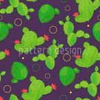 Abstract Summer Cacti Vector Pattern