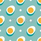 Aufgereihte Eier Nahtloses Vektor Muster