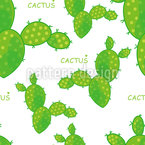 Abstract Cacti Seamless Pattern