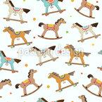 Wooden Horses Parade Vector Pattern
