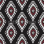 Usbekischer Ikat Muster Design