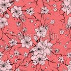 Seigaha Sakura Nahtloses Muster