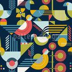 Bauhaus-Stil Vögel Designmuster