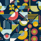 Bauhaus Style Birds Design Pattern