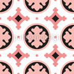 Stylized Leaf Tile Seamless Vector Pattern Design