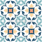Tours Tile Seamless Vector Pattern Design