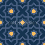 Noites Árabes Design de padrão vetorial sem costura