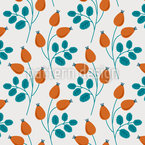 Little Rosehip Branches Vector Design