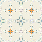 Floral Crosses Seamless Vector Pattern Design