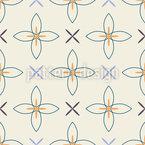Florale Kreuze Nahtloses Muster