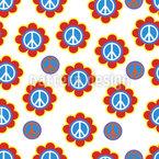 Símbolo da Paz Design de padrão vetorial sem costura