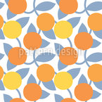 Orange Fruits Repeating Pattern