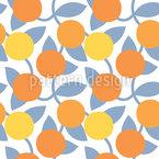 Frutas de laranja Design de padrão vetorial sem costura